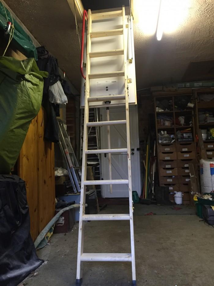 Formby loft ladder utilise lofts build Garage loft stairs